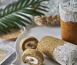 四季春玛奇朵蛋糕卷(无油红茶海绵+珍珠+燕麦+奶茶酱)的做法