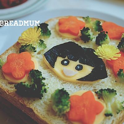 萌娃芝士三明治-爱冒险的朵拉DORA