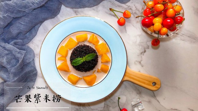 夏日甜品——芒果紫米捞的做法