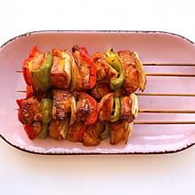 烤箱版彩椒烤鸡肉串,有颜又有料‼️