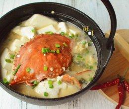 梭子蟹豆腐煲的做法