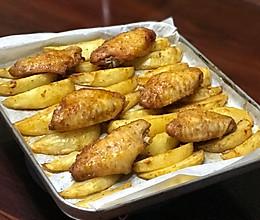 超简单的薯角和鸡翅的做法