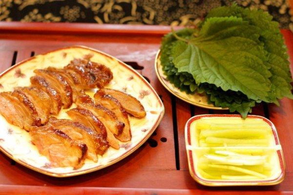 紫苏烤鸭的做法