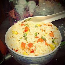 玉米胡萝卜青豆炒饭