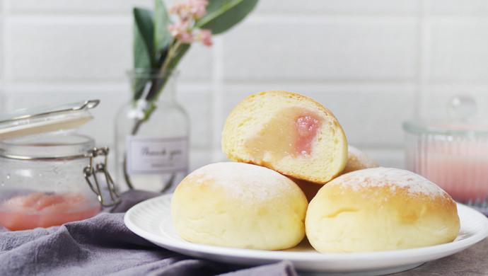 养乐多蜜桃冰面包