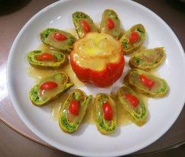 香芋西兰花蛋卷的做法