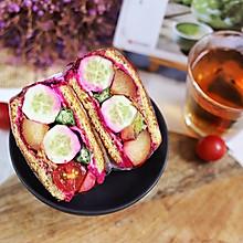 管饱不胖!超美水果爆炸三明治,营养全面#秋天怎么吃#