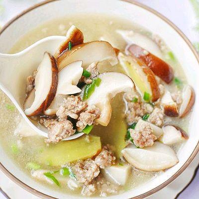 鲜掉眉毛的香菇瘦肉汤