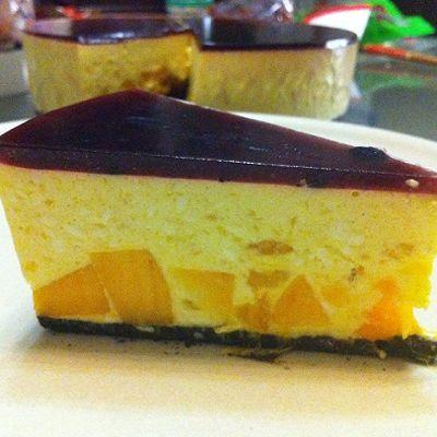 芒果芝士蛋糕免烘烤