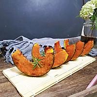 #秋天怎么吃#黑胡椒椒盐烤贝贝南瓜的做法图解7