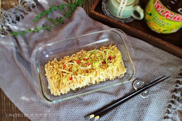 懒人菜-蒜蓉金针菇#金龙鱼营养强化维生素A  新派菜油#的做法