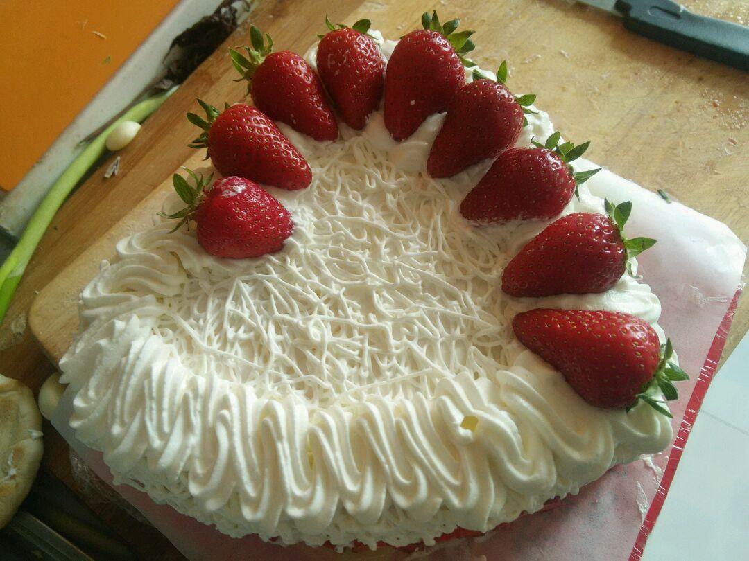 爱心蛋糕的做法图解15