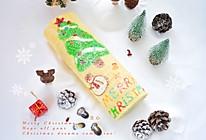 #令人羡慕的圣诞大餐#圣诞树蛋糕卷的做法