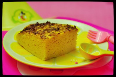 宝宝辅食系列之核桃玉米面发糕