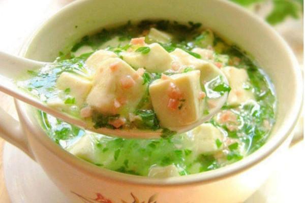 火腿豆腐汤的做法