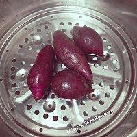 【健康减脂】紫薯鸡胸肉小饼(主人和汪可同食)的做法图解1