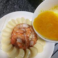 #憋在家里吃什么#减脂餐鲜虾蒸日本豆腐的做法图解7