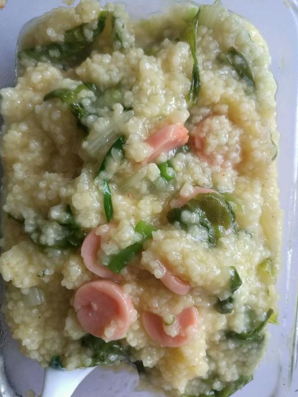 小米蔬菜粥的做法