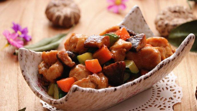 减肥食谱|酱香花菇鸡丁