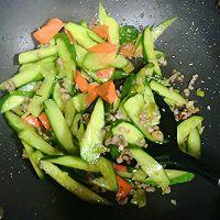 #精品菜谱挑战赛#肉末炒黄瓜的做法图解3