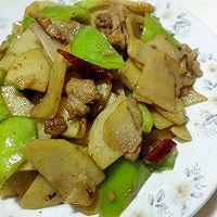 快手菜之青椒肉片土豆片,简单家常菜料酒