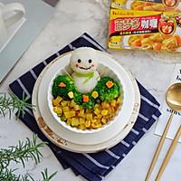 小雪人咖喱饭·卡通餐#百梦多圆梦季#