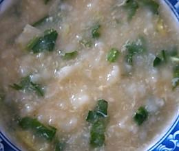 浓香青菜鸡蛋粥的做法