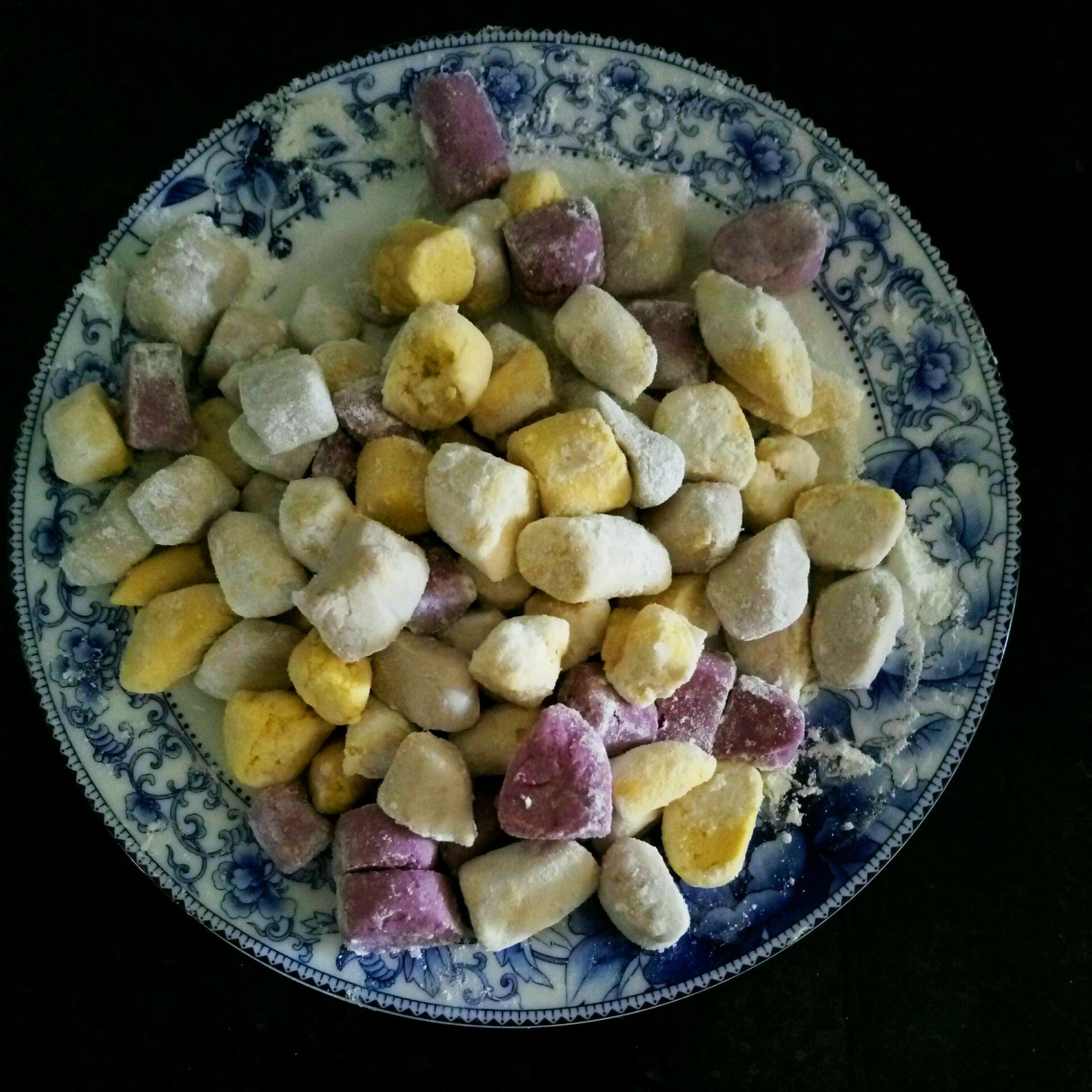 【阿苏】紫薯南瓜芋圆的做法图解5