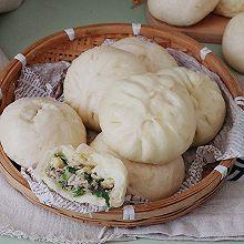 【香菇小白菜包子】#好吃不上火#