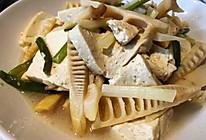 绍酒春笋焖豆腐的做法