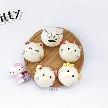 Hello Kitty猫一家人----卡通包子(豆沙馅)