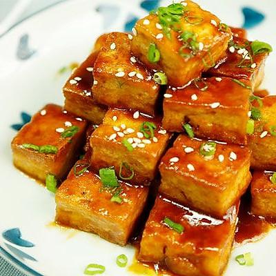 糖醋脆皮豆腐丨老豆腐煎一煎 好吃飞上天【微体兔菜谱】