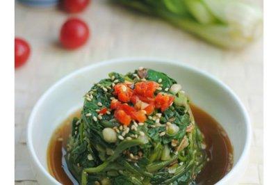 超好吃的菠菜筒子