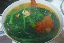 菠菜番茄粉丝干虾仁汤的做法