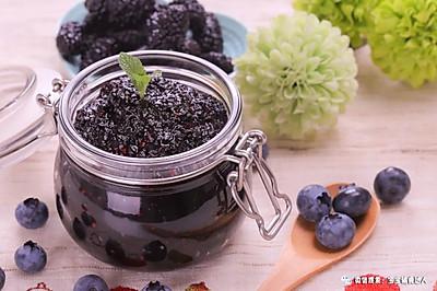 桑葚蓝莓果酱 宝宝辅食食谱