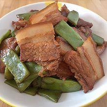 五花肉烧扁豆角