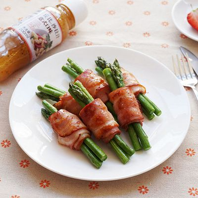 丘比沙拉汁-培根芦笋卷