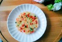 #美食新势力#米饭蔬菜鸡蛋饼的做法