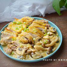 白酒蘑菇鸡