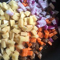 周末睡懒觉后最适合的早午餐-咖喱牛肉饭的做法图解3