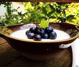 蓝莓双皮奶的做法