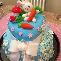 翻糖双层生日蛋糕的做法图解21