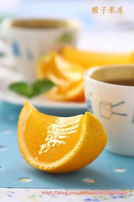 橙子果冻的做法