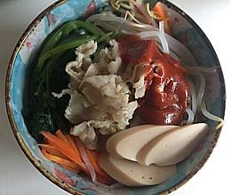 韩式肥牛什锦拌饭的做法
