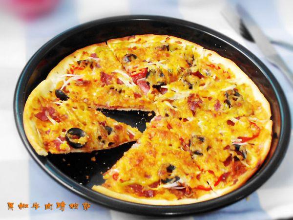 黑椒牛肉脆披萨的做法