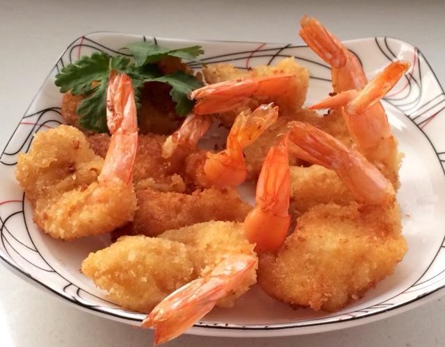黄金虾的做法图解4
