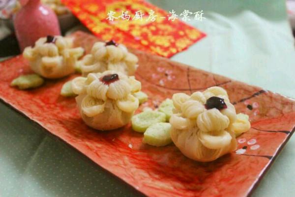绿豆沙馅海棠酥的做法