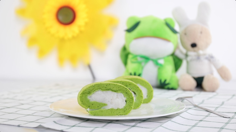 迎春卷【菠菜蛋糕卷】