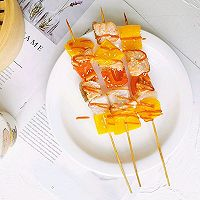 串串新吃法之三文鱼彩椒串的做法图解8