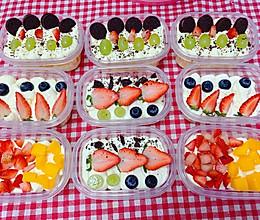 盒子蛋糕杯子蛋糕水果奶油蛋糕的做法